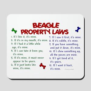 Beagle Property Laws 2 Mousepad