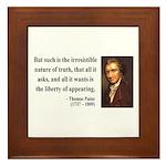 Thomas Paine 5 Framed Tile