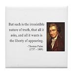 Thomas Paine 5 Tile Coaster
