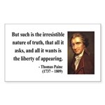 Thomas Paine 5 Rectangle Sticker