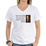 Thomas Paine 5 Women's V-Neck T-Shirt
