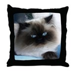 Blue-Eyed Himalayan Cat Throw Pillow