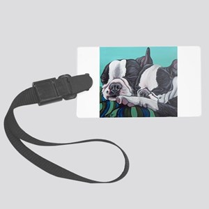 Boston Terrier Large Luggage Tag
