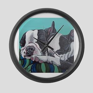 Boston Terrier Large Wall Clock