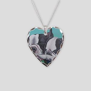Boston Terrier Necklace Heart Charm