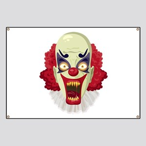 Scary Red Clown Banner