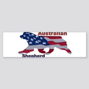 US Flag Aussie Bumper Sticker