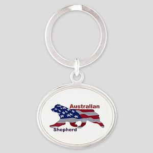US Flag Aussie Keychains