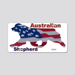 US Flag Aussie Aluminum License Plate