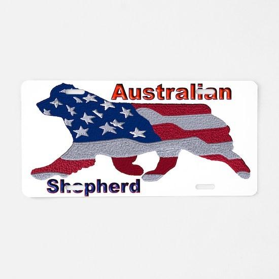 US Flag Aussie Aluminum License Plate