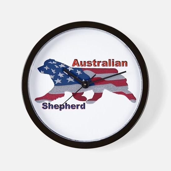 US Flag Aussie Wall Clock