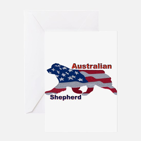 US Flag Aussie Greeting Cards