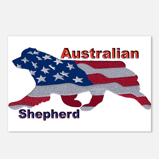 US Flag Aussie Postcards (Package of 8)