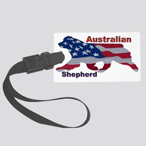 US Flag Aussie Luggage Tag