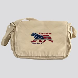US Flag Aussie Messenger Bag