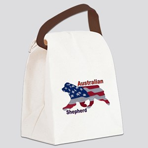 US Flag Aussie Canvas Lunch Bag