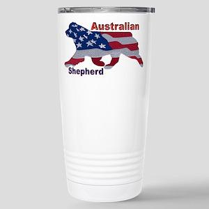 US Flag Aussie Travel Mug