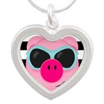 Cool Pink Pig Necklaces