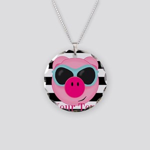 Cool Pink Pig Necklace