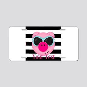 Cool Pink Pig Aluminum License Plate