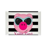 Cool Pink Pig Magnets