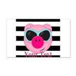 Cool Pink Pig Wall Decal