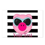 Cool Pink Pig Postcards (Package of 8)
