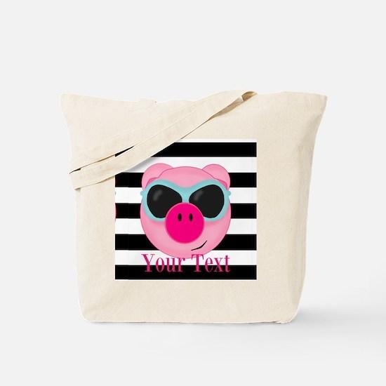 Cool Pink Pig Tote Bag