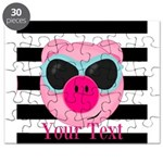 Cool Pink Pig Puzzle