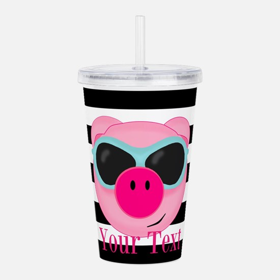 Cool Pink Pig Acrylic Double-wall Tumbler