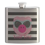 Cool Pink Pig Flask