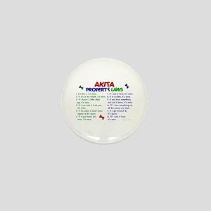 Akita Property Laws 2 Mini Button