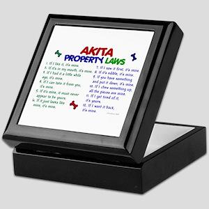 Akita Property Laws 2 Keepsake Box