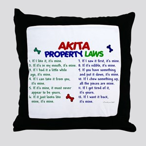 Akita Property Laws 2 Throw Pillow