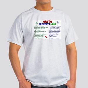 Akita Property Laws 2 Light T-Shirt