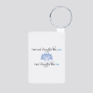 I Am Beautiful Aluminum Photo Keychain Keychains