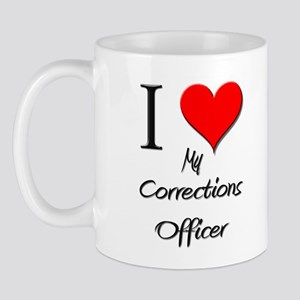 I Love My Corrections Officer Mug