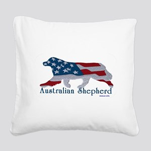 American Australian Shephard with a tail Square Ca