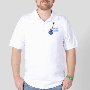 xmas blues Guitar Golf Shirt
