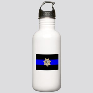 TDCJ Parole Thin Blue Stainless Water Bottle 1.0L