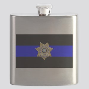 TDCJ Parole Thin Blue Line Flask