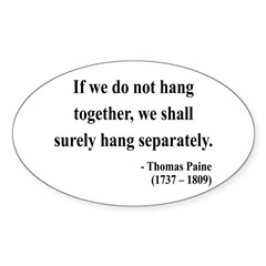 Thomas Paine 7 Oval Decal