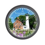 Port Sanilac Lighthouse 2015 Wall Clock