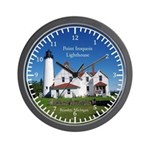 Point Iroquois Lighthouse Wall Clock