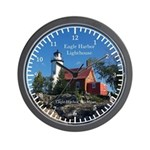Eagle Harbor Lighthouse Wall Clock