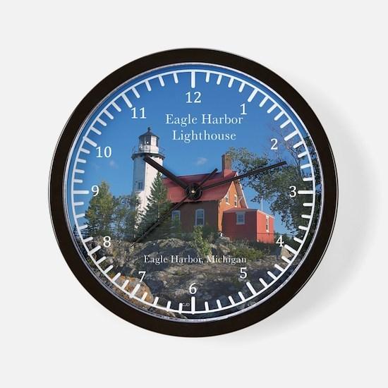 Eagle Harbor Lighthouse Wall Clock