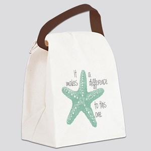 Makes a Difference Canvas Lunch Bag