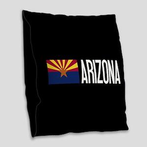 Arizona: Arizonan Flag & Arizo Burlap Throw Pillow