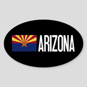 Arizona: Arizonan Flag & Arizona Sticker (Oval)