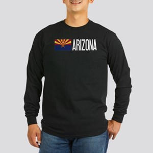 Arizona: Arizonan Flag & Long Sleeve Dark T-Shirt